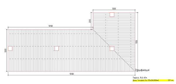 спецификация террасного покрытия