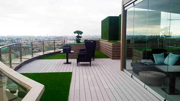террасная доска для отделки пола балконов