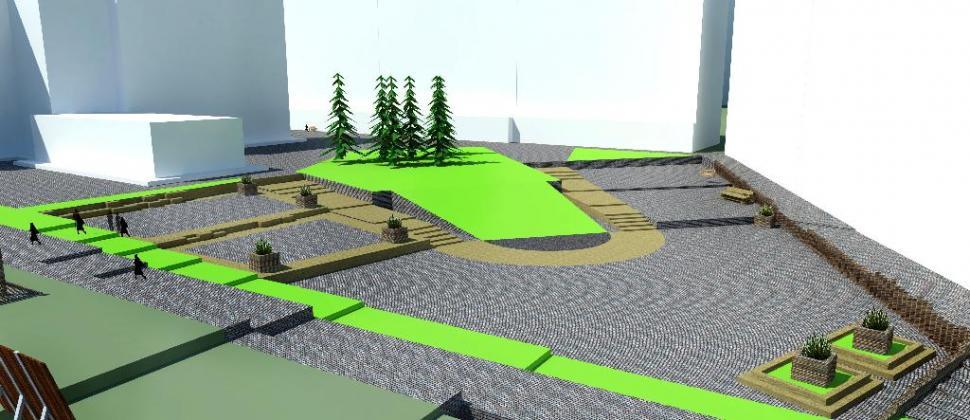 Терраса микрорайону - архитектурные решения с материалами Террадек. Улучшение жилой среды типового микрорайона с использованием террасирования