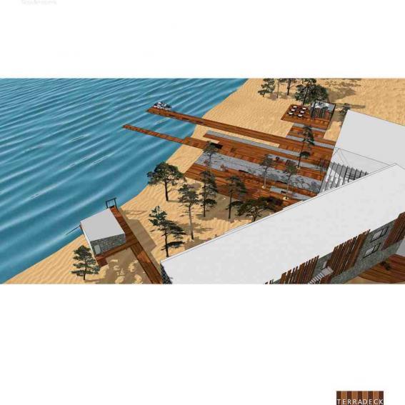 Благоустройство территории отеля на берегу озера Байкал