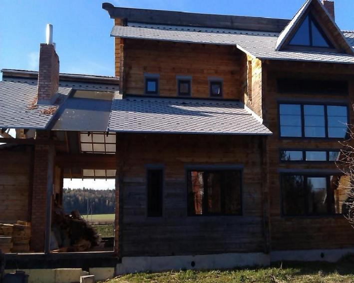 Проект жилого загородного дома с террасой