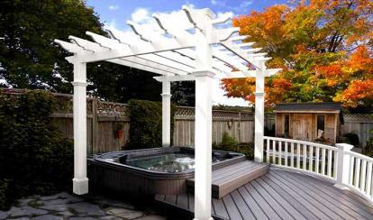 деревянная для небольшого бассейна №4